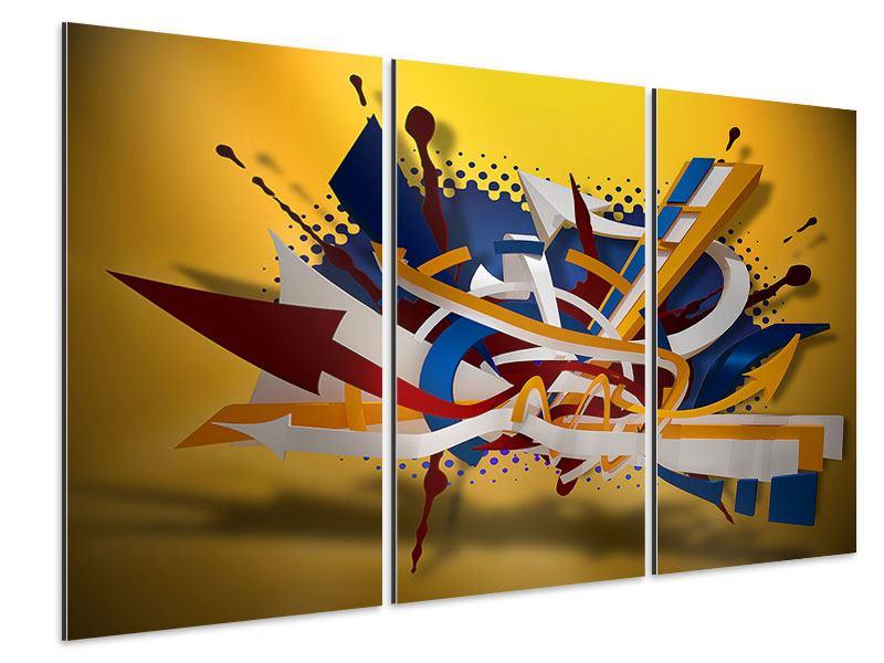 Aluminiumbild 3-teilig Graffiti Art