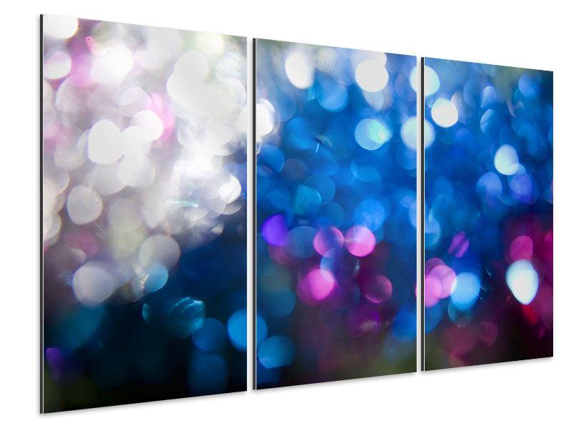 Aluminiumbild 3-teilig Abstraktes Licht