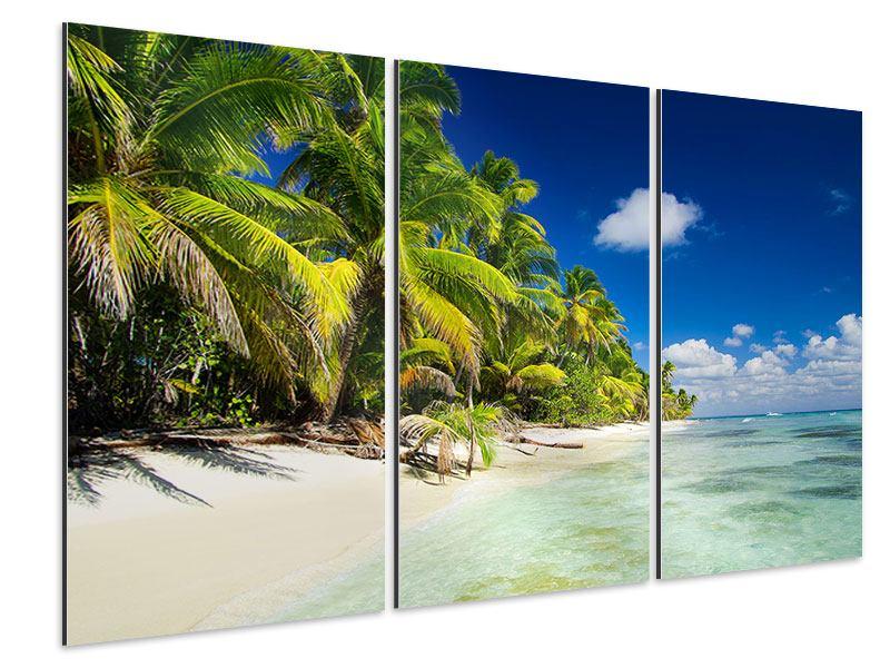 Aluminiumbild 3-teilig Die einsame Insel
