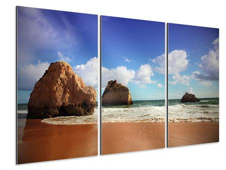 Aluminiumbild 3-teilig Strandgedanken