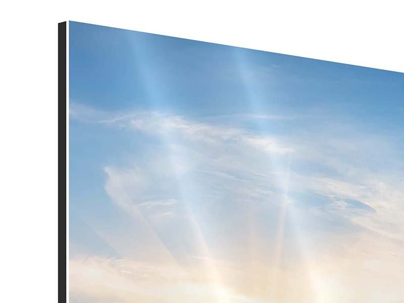 Aluminiumbild 3-teilig Sonnenaufgang im Park