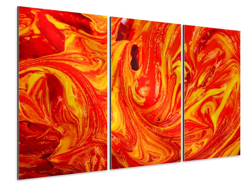 Aluminiumbild 3-teilig Wandgemälde