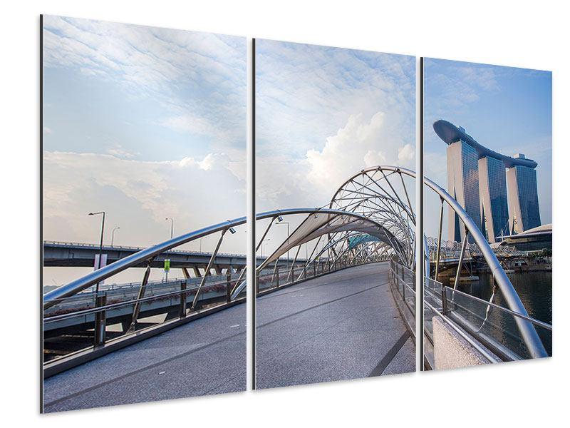 Aluminiumbild 3-teilig Helix-Brücke
