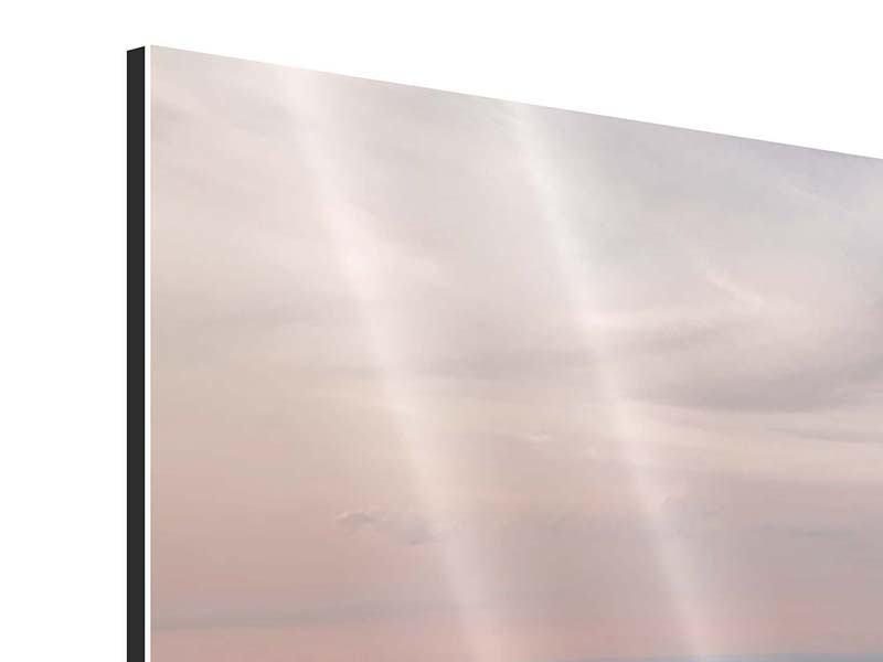 Aluminiumbild 3-teilig Skyline Blick über Manhattan