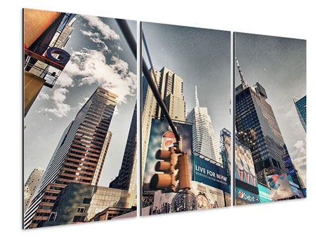Aluminiumbild 3-teilig Times Square
