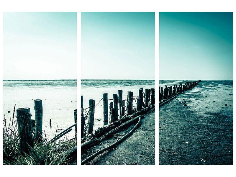 Aluminiumbild 3-teilig Das Wattenmeer