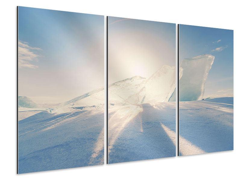 Aluminiumbild 3-teilig Eislandschaft