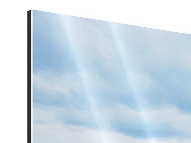 Aluminiumbild 3-teilig Ozean-Steg