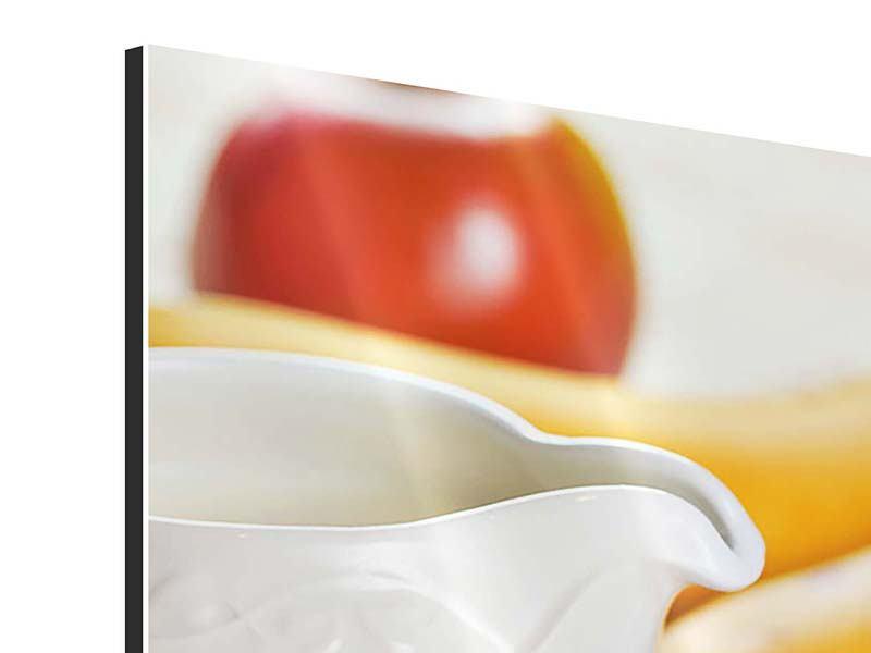 Aluminiumbild 3-teilig Frühstück