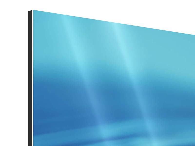 Aluminiumbild 3-teilig Der Wassertropfen