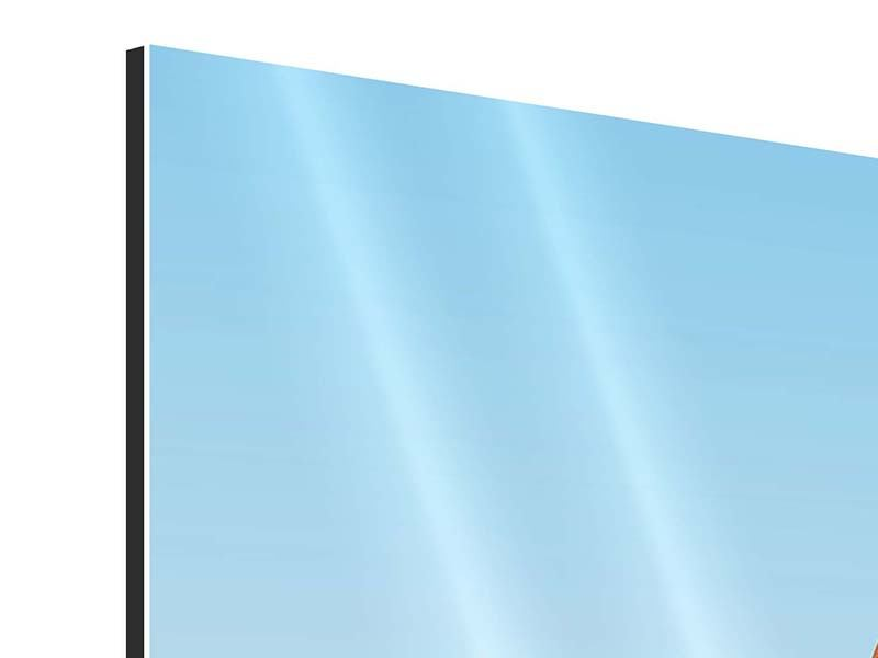 Aluminiumbild 3-teilig Brückenpanorama
