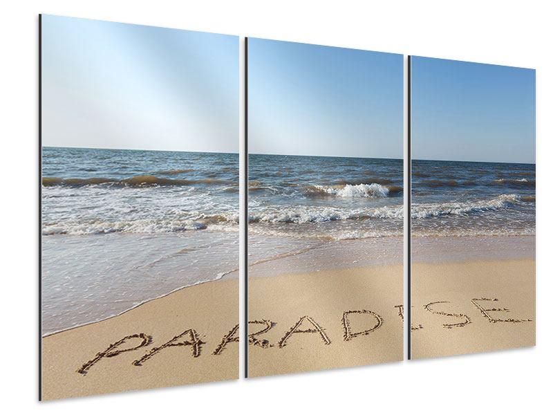 Aluminiumbild 3-teilig Sandspuren