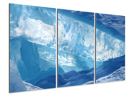 Aluminiumbild 3-teilig Baikalsee-Eis