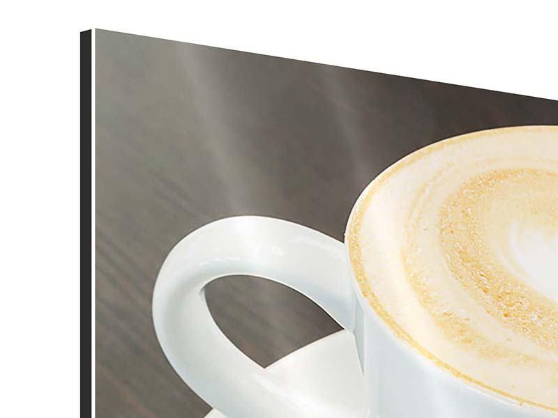 Aluminiumbild 3-teilig Lieblingskaffee