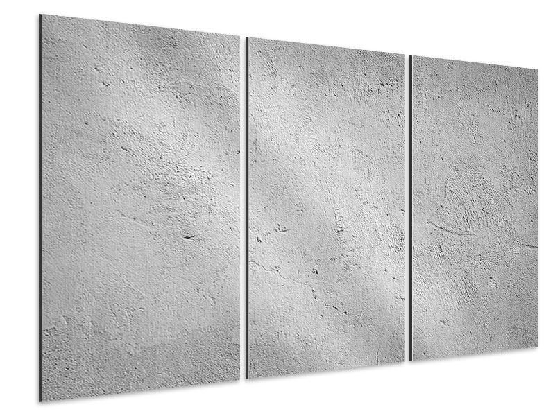 Aluminiumbild 3-teilig Beton