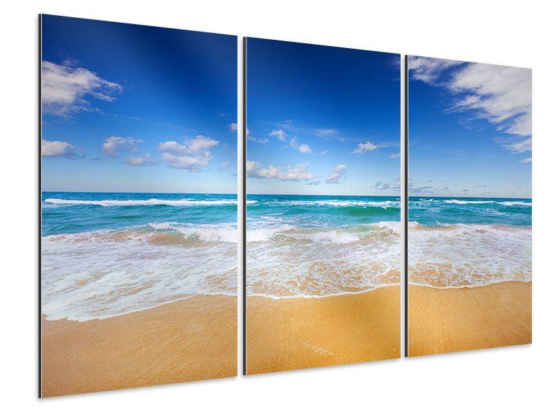 Aluminiumbild 3-teilig Die Gezeiten und das Meer