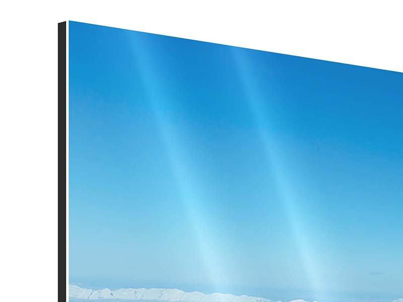 Aluminiumbild 3-teilig Über den Wolken