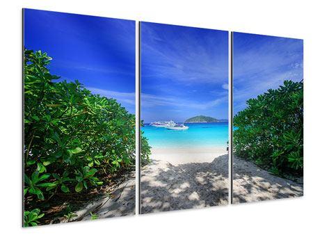Aluminiumbild 3-teilig Similan-Inseln