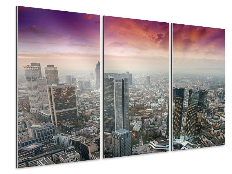 Aluminiumbild 3-teilig Skyline Penthouse in New York