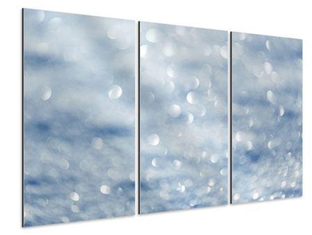 Aluminiumbild 3-teilig Kristallglanz