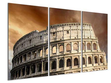 Aluminiumbild 3-teilig Kolosseum Rom