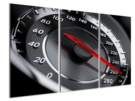 Aluminiumbild 3-teilig Geschwindigkeit