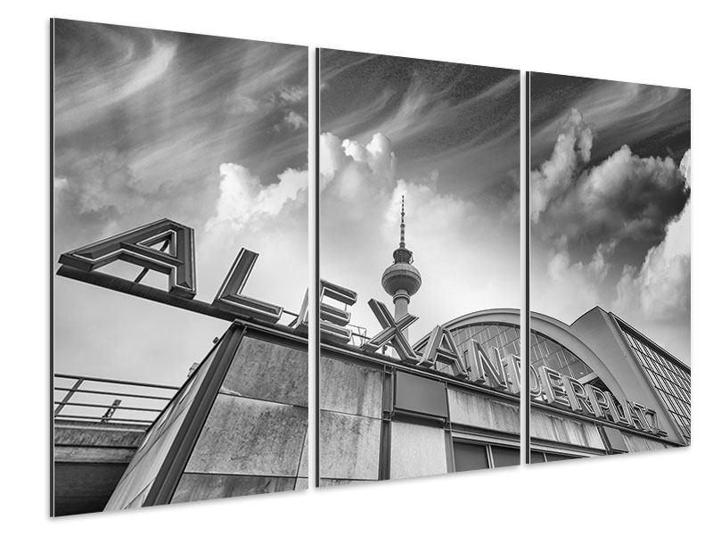 Aluminiumbild 3-teilig Alexanderplatz