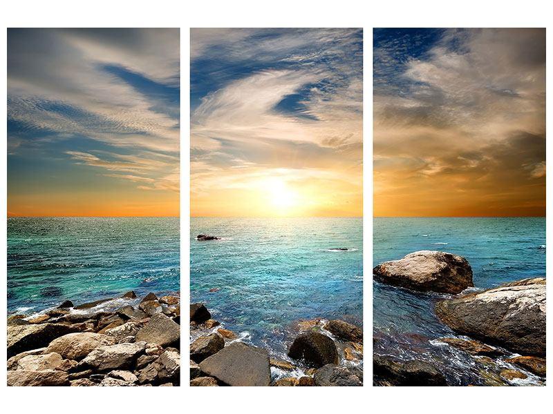 Aluminiumbild 3-teilig Meerwasser