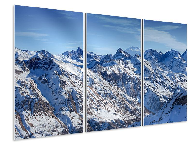 Aluminiumbild 3-teilig Gipfelspitzen