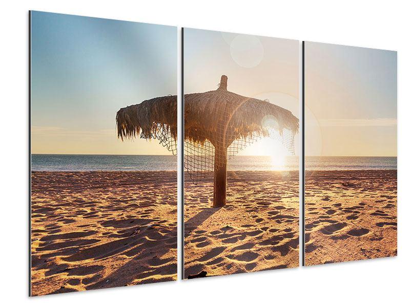 Aluminiumbild 3-teilig Der Sonnenschirm