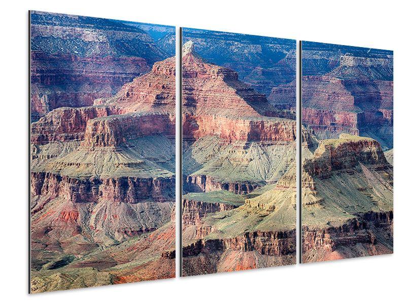 Aluminiumbild 3-teilig Gran Canyon