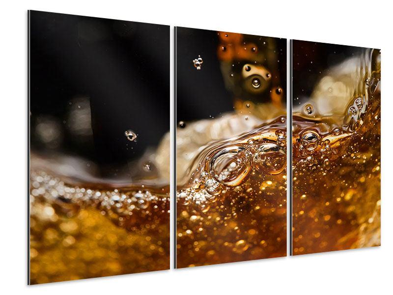 Aluminiumbild 3-teilig Cognac