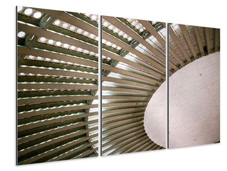 Aluminiumbild 3-teilig Abstraktes Rad