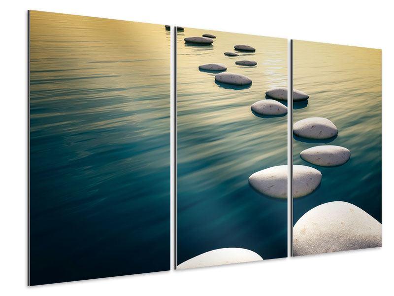 Aluminiumbild 3-teilig Der Weg ist das Ziel