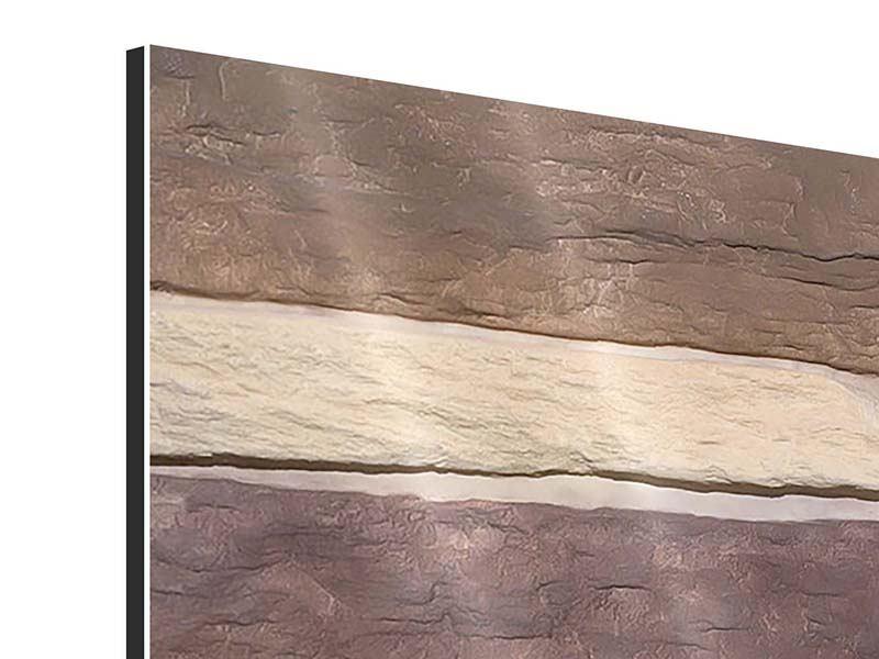 Aluminiumbild 3-teilig Designer-Mauer