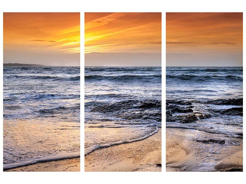 Aluminiumbild 3-teilig Das Meer