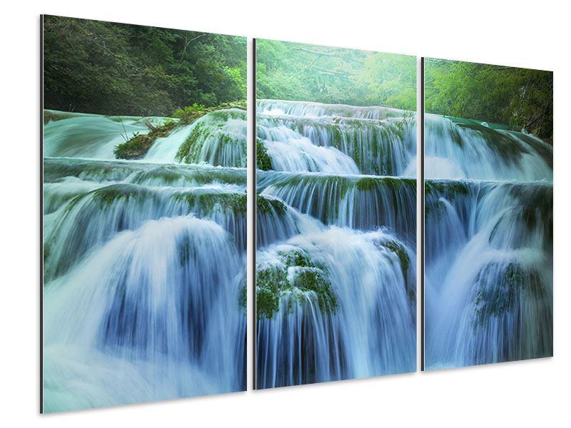 Aluminiumbild 3-teilig Gigantischer Wasserfall