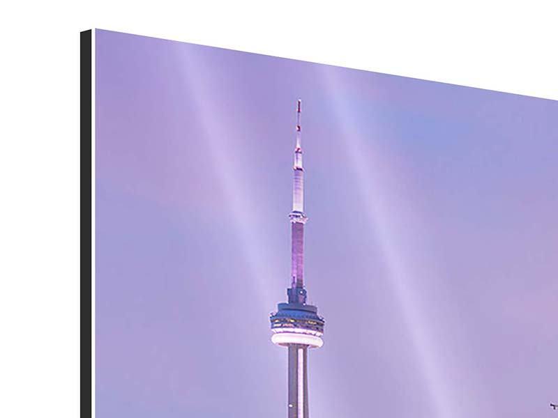 Aluminiumbild 3-teilig Skyline Toronto bei Nacht