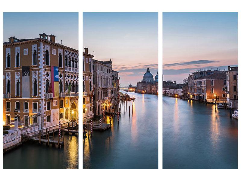 Aluminiumbild 3-teilig Romantisches Venedig