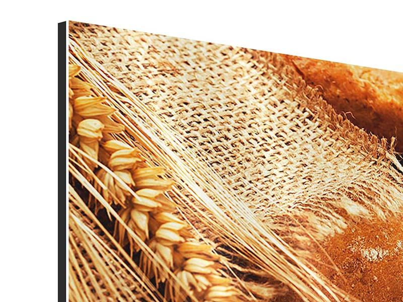 Aluminiumbild 3-teilig Frische Brote