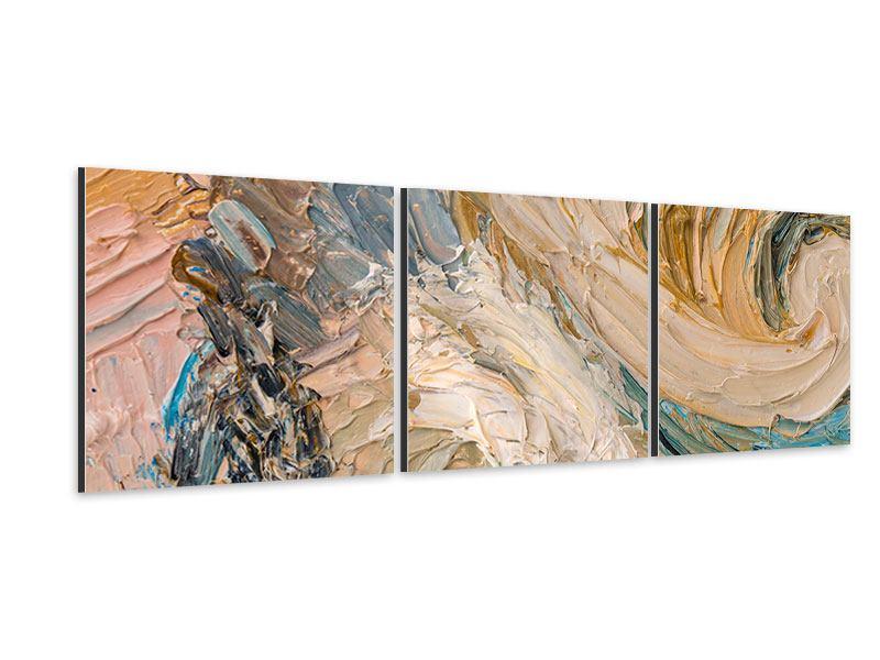 Panorama Aluminiumbild 3-teilig Ölgemälde