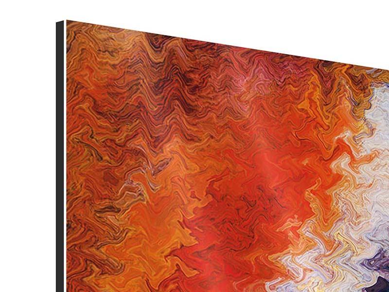 Panorama Aluminiumbild 3-teilig Wandmalerei