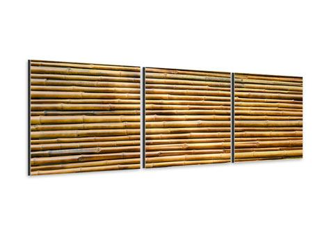 Panorama Aluminiumbild 3-teilig Bambus