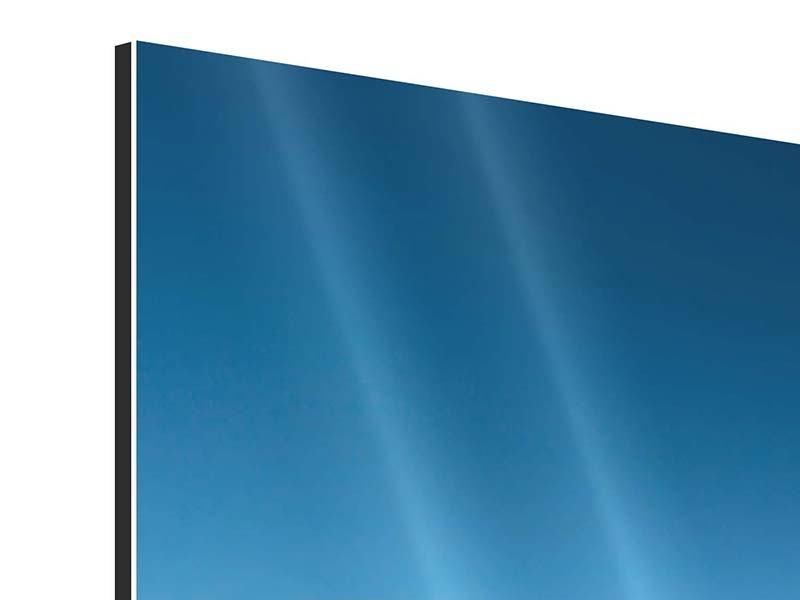 Panorama Aluminiumbild 3-teilig Das Meer und Jules Verne