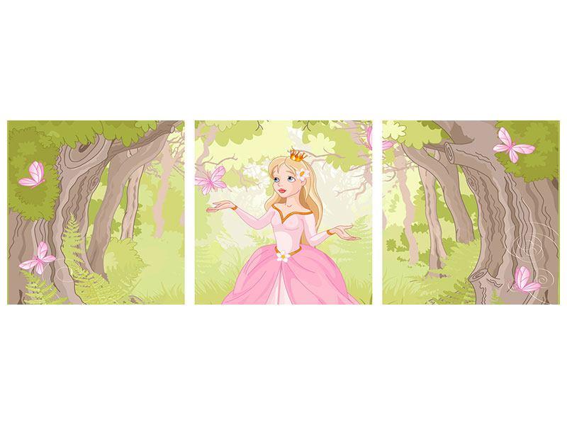 Panorama Aluminiumbild 3-teilig Princess