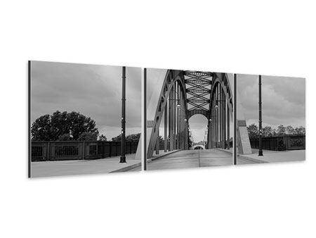 Panorama Aluminiumbild 3-teilig Poetische Brücke