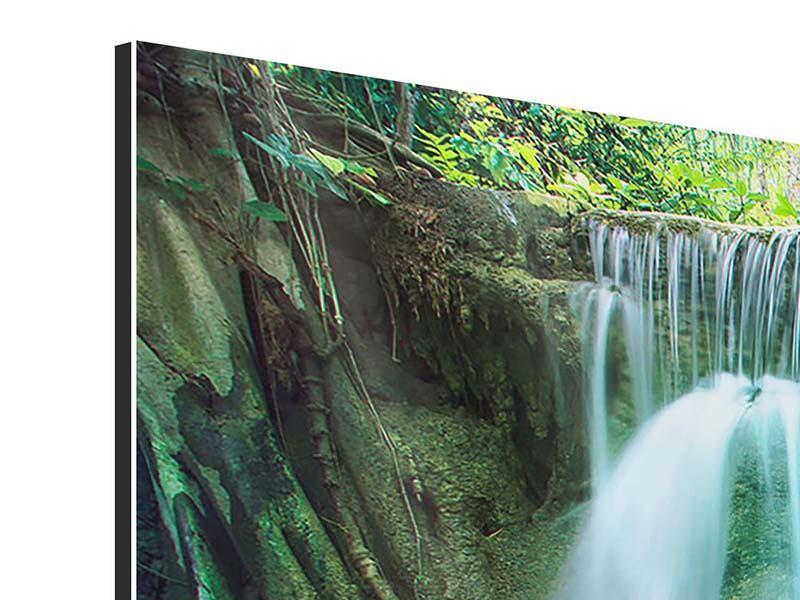 Panorama Aluminiumbild 3-teilig Im Paradies