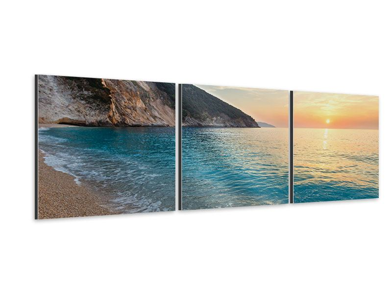 Panorama Aluminiumbild 3-teilig Felsen