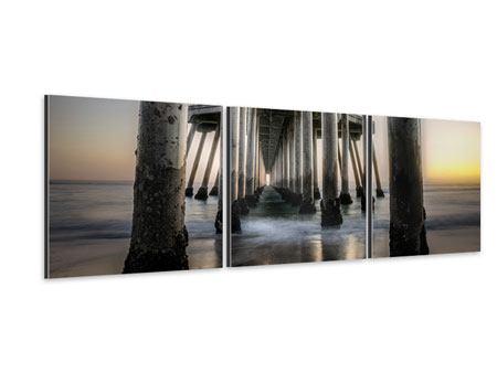 Panorama Aluminiumbild 3-teilig Brückenpfeiler