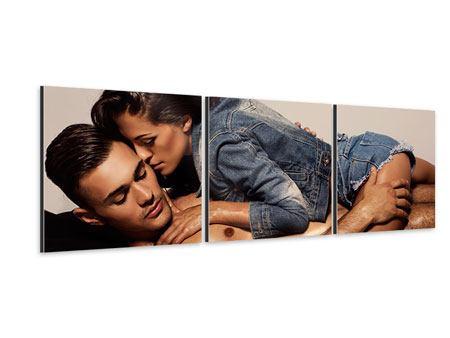 Panorama Aluminiumbild 3-teilig Love Is In The Air